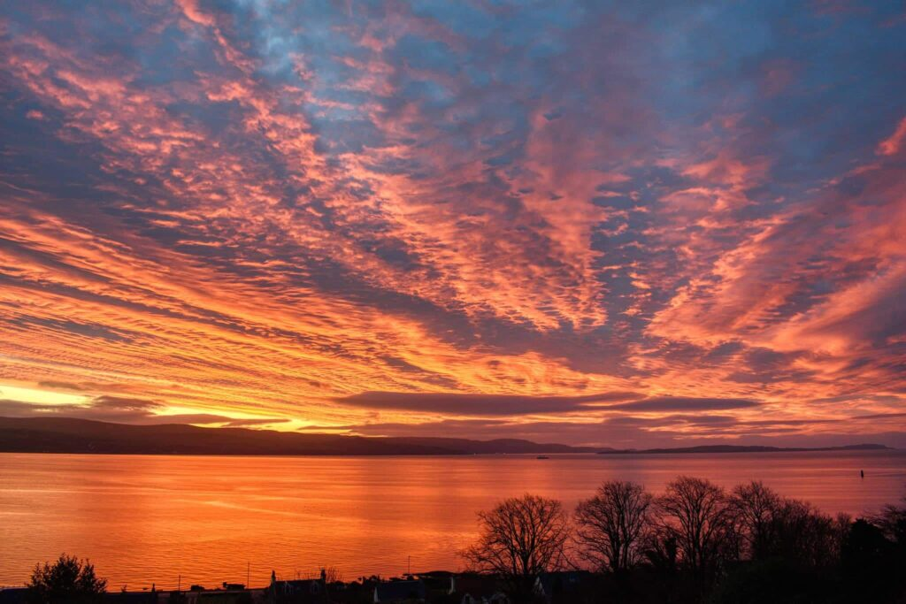 Epic Winter Sunrise over the Clyde