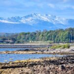 Innellan Shoreline with Arran in the background