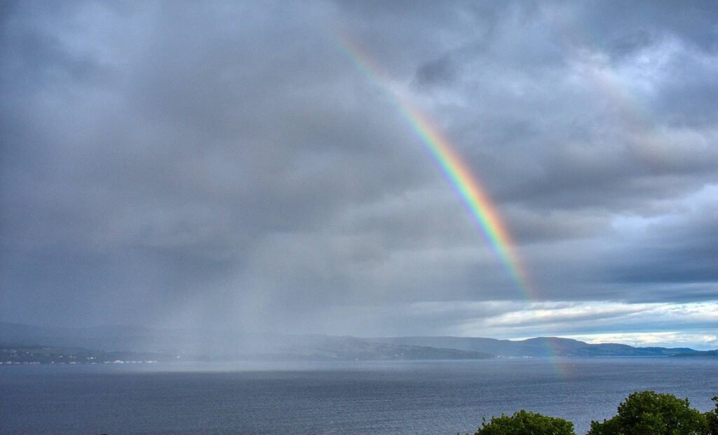 Rainbow and Shower over the Clyde